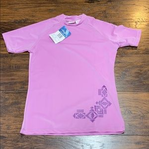 Kanu pink short sleeve swim shirt rash guard small